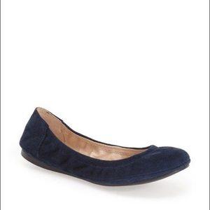 VINCE CAMUTO • Navy Suede Ellen Ballet Flats